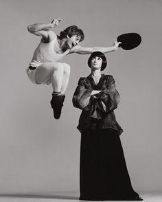 Mikhail Baryshnikov and Twyla Tharp. New York, December 1975. Photo: Richard Avedon.