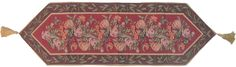 DaDa Bedding Romantic Floral Field of Roses Burgundy Red Brown Hand-Crafted Decorative Woven Place Mat Table Runners Cloths (5594)