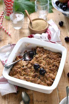 Crumble aux cerises Desserts Printemps, Biscuits Croustillants, Palet Breton, C'est Bon, Kitsch, Fondant, Cereal, Breakfast, Food