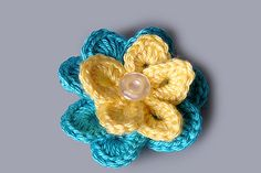 Ravelry: Double Layer Easy Flower Accessory pattern by The Perfect Knot - Michelle Kovach