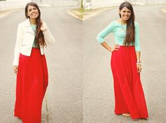 red skirt and long sleeves.  A girl named Nydia: Island Winter