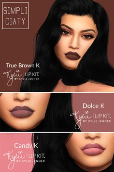 """simpliciaty: """" Kylie Lip Kit V2 I remade the first colors and added the 3 new ones, now they should fit all lip types & I also made them more matte since the last ones had a lot of shine on..."""