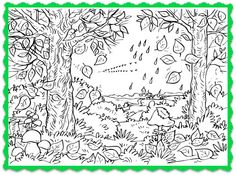 Fall Tree Coloring Page and Song For Kids!