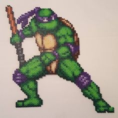 TMNT Donatello perler beads by minionmikey