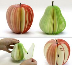"""""""fruit"""" sticky notes"""