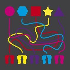 Image result for floor lines preschool round maze