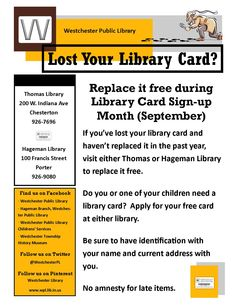 Free Library Card Replacement During National Library Card Signup