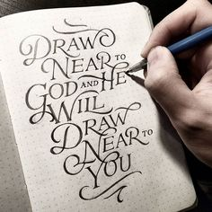 Draw Near To God and He Will Draw Near To You via @dandrawnwords #todaystype -  #typography #handstyle #goodtype #handlettering #thedailytype #typematters #thedesigntip #logodesign #dailytype #ilovetypography #typespire #brushtype #todaystype #typematters #typegang by todays_type