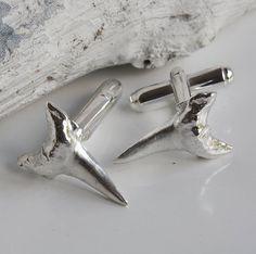 Silver Shark Tooth Cufflinks
