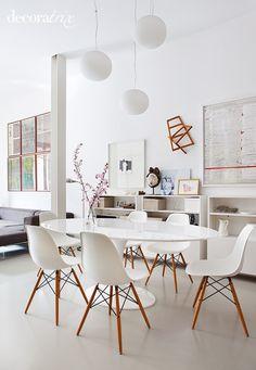 mesa tulipa oval - sala de jantar