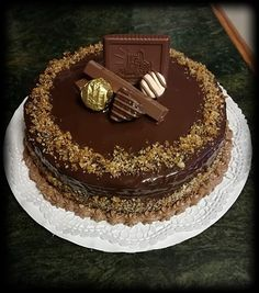Creative Cakes, Cake Recipes, Cake Decorating, Sweet Treats, Food And Drink, Sweets, Cream, Cake, Pies