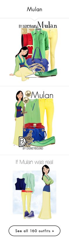 """""""Mulan"""" by catherinelinnea ❤ liked on Polyvore featuring Stella & Dot, Hudson, Diane Von Furstenberg, Juicy Couture, Alicia Marilyn Designs, Disney, Enzo Angiolini, DeWitt, 7 For All Mankind and W118 by Walter Baker"""