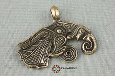 Corbeau de Odin Hugin Viking Bijoux Pendentif Bronze scandinave solide