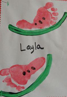 Foot Print Watermelon - Candra Faulkner