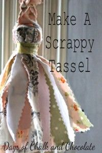 49 Crafty Ideas for Leftover Fabric Scraps - Cool Crafts You Can Make With Fabric Scraps – Make a Scrappy Tassel – Creative DIY Sewing Proje - Scrap Fabric Projects, Diy Sewing Projects, Fabric Scraps, Sewing Crafts, Sewing Toys, Sewing Ideas, Sewing Clothes, Craft Tutorials, Wood Bead Garland