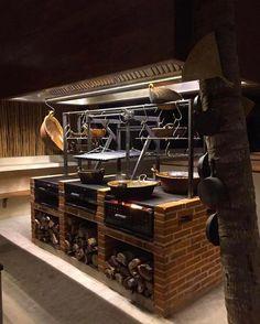 Basic Kitchen Area Concepts For Inside or Outside Kitchen areas – Outdoor Kitchen Designs Barbecue, Bbq Grill, Fire Grill, Outdoor Kitchen Bars, Outdoor Kitchen Design, Fire Cooking, Outdoor Cooking, Grill Design, Küchen Design