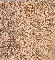 William Morris wallpaper design based on an Indian Chintz - which is an interesting synthesis of arts and crafts, exotica, and Morris' beliefs about pre-Renaissance art and design