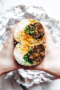 If you're tired of eating the same ol' sandwich for lunch every day, switch things up this week with a flavorful burrito instead. From rice and Korean BBQ beef, to fresh herbs and kimchi, this burrito will keep you happy and full until dinnertime.