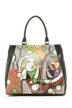 Picasso Girl with A Mirror Shopper Tote