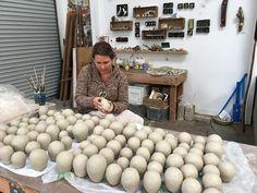 Work in Progress video on the Umbel Series  Video: Umbel Series   Work in Progress   the dirt   Jenni Ward ceramic sculpture