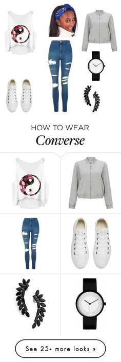 """"""""""" by kc26 on Polyvore featuring Topshop, Converse, Miss Selfridge and Cristabelle"""