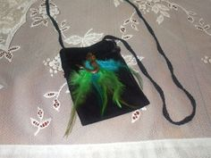Mermaid with blue and green feathers by LadyIsabellasAngel on Etsy