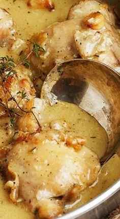 Rustic Chicken with Garlic Gravy - (Free Recipe below)