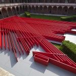 "Milan 2015: Daniel Libeskind's ""Future Flowers"" Installation Celebrates Straight Lines"