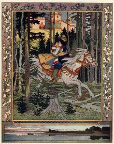 Ivan Yakovlevich Bilibin (Russian,  1876-1942), illustrator and stage designer.