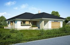 Patio I - Dobre Domy Flak & Abramowicz Good House, Home Fashion, House Plans, Shed, Outdoor Structures, Patio, Flooring, Architecture, House Styles