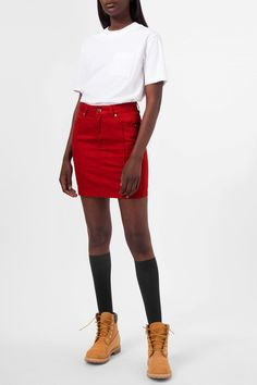 Weekday image 2 of Candy Skirt in Red Dark