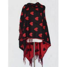 Britain Sweet Heart Pattern Outdoor Warm Tassel Pashmina Scarf #shoes, #jewelry, #women, #men, #hats, #watches