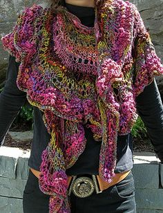 What happens if you 'grow' a wrap rather than simply knit it ?What happens when you think of a pattern as a seed rather than a plan?