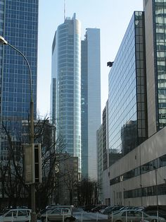 Skyscrapers in warsaw. Poland
