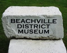 Beachville District Museum sign - Beachville, Ontario