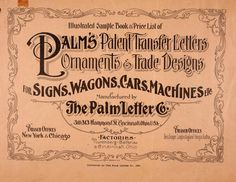 Letterology covers typography, hand lettering, books, ephemera and other topics related to design. Vintage Typography, Typography Fonts, Typography Design, Hand Lettering, Vintage Type, Vintage Ads, Vintage Prints, Graphics Vintage, Signwriting