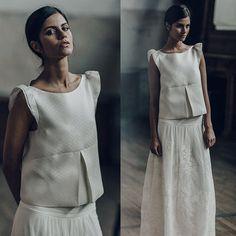 Top Auriac & jupe Mirabeau - Collection Mariage 2016 Laure de Sagazan