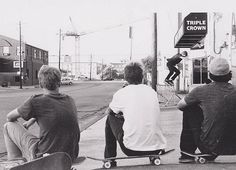 (by charliekitchen) Skater Guys, Beach Bum, Surfing, Street View, Black And White, Skateboarding, City, Boys, People