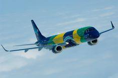 AEROSPACEBRASIL: Avião da Azul personalizado com a bandeira nacional é atração das comemorações de 7 de Setembro