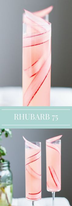 Rhubarb Cocktail French 75 Spring Recipe Champagne Mother s Day Brunch Drinks Cointreau Cocktail, Rhubarb Cocktail, Brunch Drinks, Party Drinks, Summer Cocktails, Cocktail Drinks, Cocktails 2018, Drambuie Cocktails, Rumchata Cocktails