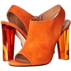 Calvin Klein Collection Women's Kena Dress Sandal featuring polyvore, fashion, shoes, sandals, zipper sandals, transparent shoes, open toe shoes, calvin klein collection shoes and open toe sandals