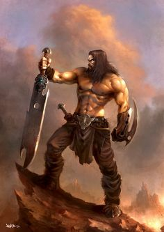 *Arikem Satug, human, barbarian chieftain. Two handed sword specialist.