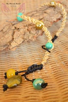 Cord Necklace with Glass Beads