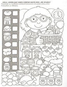 123 Manía: actividades de matemática para imprimir, resolver y colorear - Betiana 1 - Веб-альбомы Picasa Más Teaching Math, Learning Activities, Preschool Activities, Kids Learning, Kindergarten Worksheets, Worksheets For Kids, Hidden Pictures, Math For Kids, Kids Education