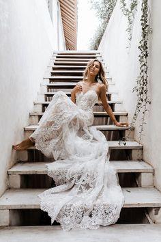 Seraphina   The GC Bridal Lounge #lacedress #Wedding #bohemian