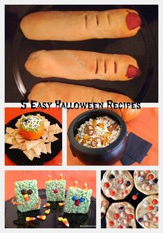 5 #Easy Halloween recipes.  Click here for individual recipes.  http://beyondthepark.com/spooky-halloween-food/