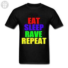 Shaoming Men's Cotton T-Shirt EAT SLEEP RAVE REPEAT (*Amazon Partner-Link)