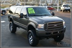 Ford Excursion done the way I like. Diesel Trucks, Lifted Trucks, Ford Trucks, Pickup Trucks, Ford Excursion Diesel, 2005 Ford Excursion, First Gen Cummins, Big Ride, Ford Expedition