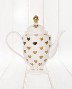 Miss Etoile Tea Pot Gold Hearts - Valentine's Day #ShareTheLove