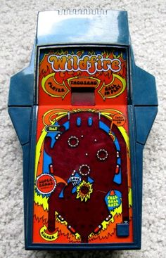 Wildfire Pinball Parker Brothers Built in speaker in the rear of the case. All Video Games, Retro Video Games, Retro Toys, Vintage Toys, Handheld Video Games, Mini Arcade, Vintage Videos, Vintage Board Games, Fisher Price Toys